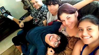 Soraya Laboy with her family