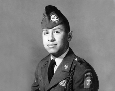 Jose Aguayo in uniform
