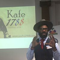 Entrepreneur R.Macien presenting Kafe 1788