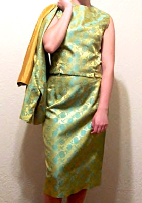 Handmade Asian inspired three peice silk dress suit