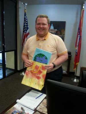 Delivering Crafts for Congress to office of Steve Womack.