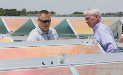 Buying Into Solar, Utility's array largest in area