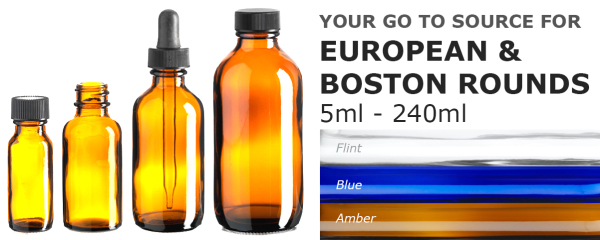 European and Boston round bottles
