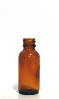 amber boston round flat bead