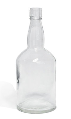 Bourbon glass bottle