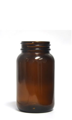 Glass Wide Mouth Amber Packer - 150ml