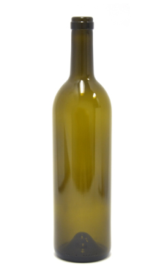 750ml Bordeaux glass wine bottle