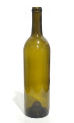 750ml Bordeaux glass wine bottle