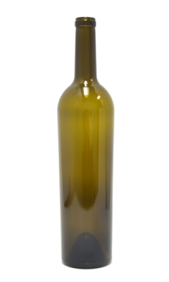 750ml Bordeaux Cabernet glass wine bottle