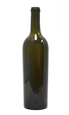 750ml heavy bordeaux glass wine bottle
