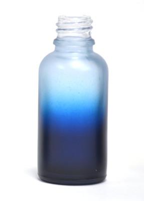 Blue gradation coated 30ml eliquid bottle