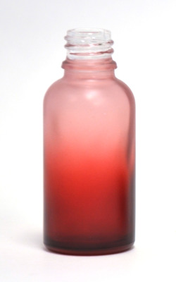 Red gradation 30ml glass eliquid bottle