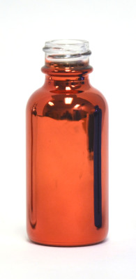 Red metallic finish glass eliquid bottle