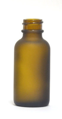 Frosted Amber Boston Round 30ml Glass ejuice bottle