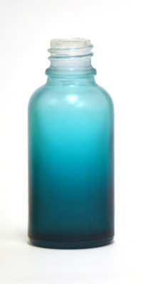 Frosted blue coated 30ml glass eliquid bottle