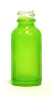 Neon Green coated 30ml glass eliquid bottle