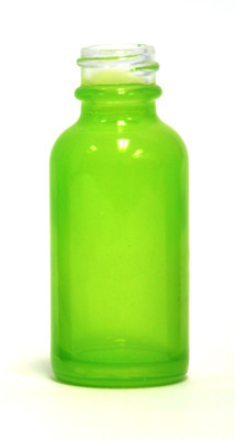 Neon Green coated 30ml glass eliquid bottle
