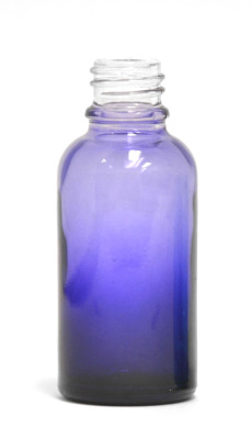 Purple Gradation Coated 30ml glass bottle