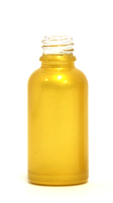Gold yellow coated 30ml glass eliquid bottle