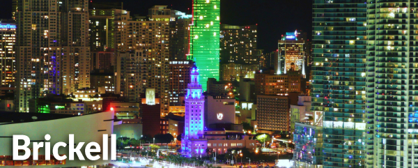 Brickell Downtown Miami at night