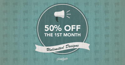 Pixeljett Graphic Design 50% Off First Month Unlimited Plan
