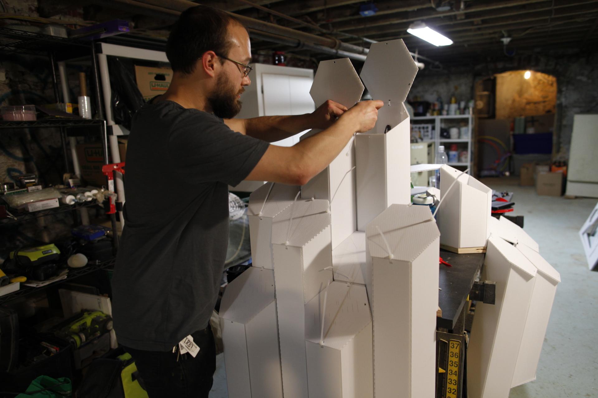 hex.crystals art installation fabrication and custom design