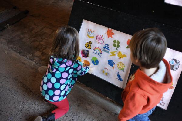 Emoji Gate participatory art installation Pearl St Passage Design Philadelphia