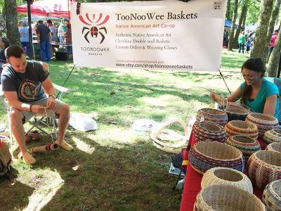 Talisha Lewallen, Cherokee Award Winning Basket Weaver