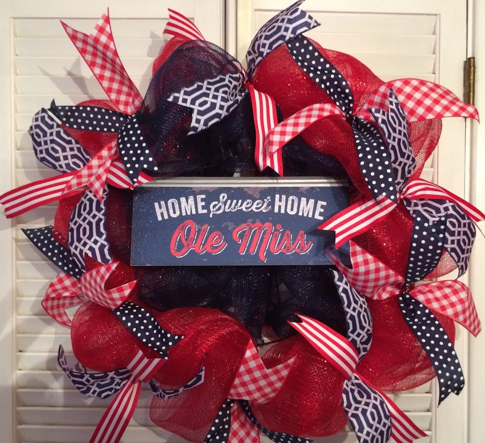 home Sweet Home Ole Miss Wreath