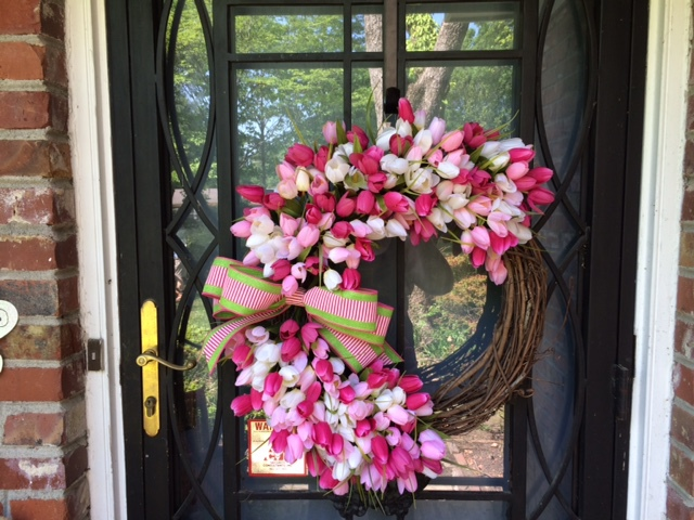Pink Tulips Spring Wreath