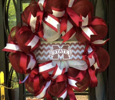 Mississippi State Bulldogs Wreath