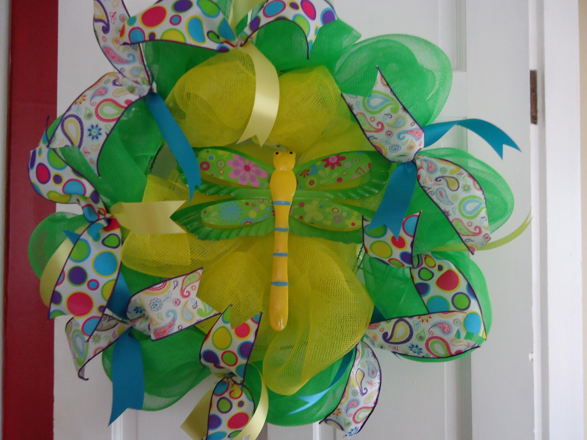 Dragonfly Summer Wreath
