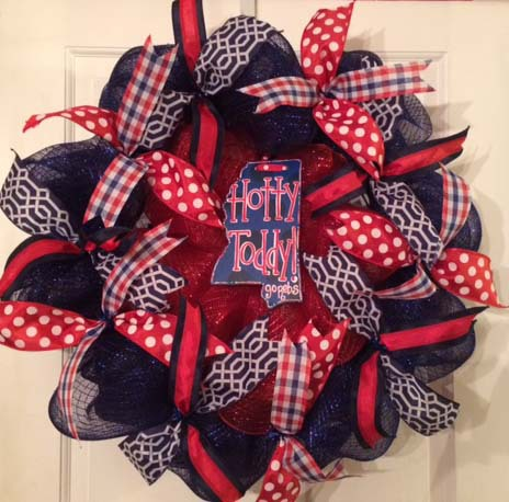 Ole Miss Hotty Toddy Wreath