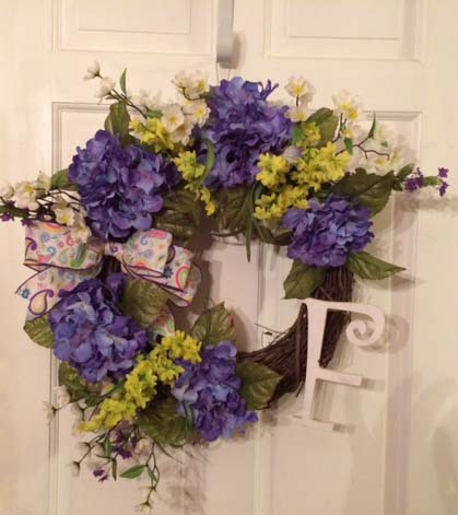 Spring and Summer Hydrangea Wreath