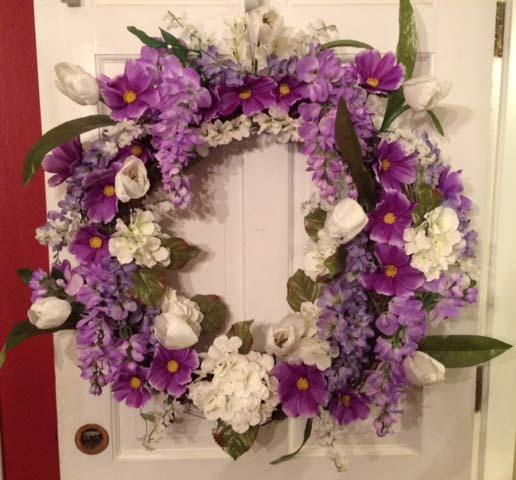 Summer Garden Floral Wreath