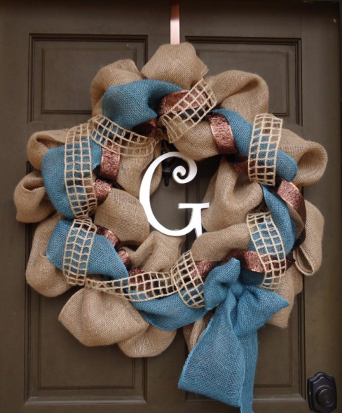 GannCreations burlap wreath