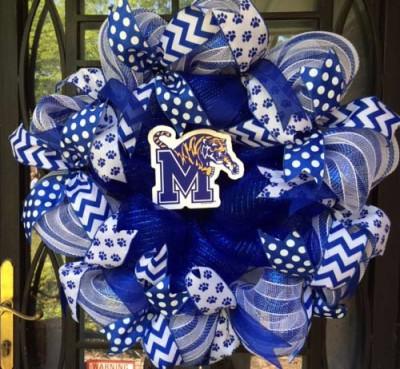 University of Memphis Tigers Wreath
