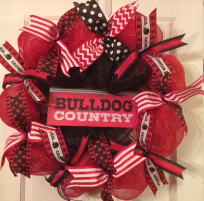 Georgia Bulldog Country Wreath