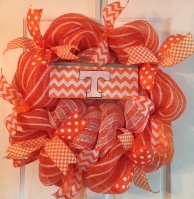 University of Tennessee Volunteers Wreath