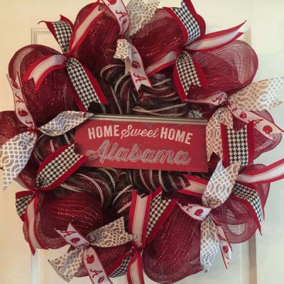 Alabama Home Sweet Home Wreath