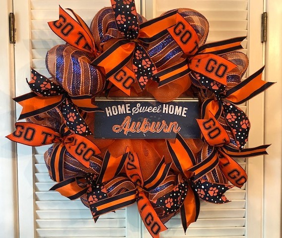 Auburn Home Sweet Home Wreath
