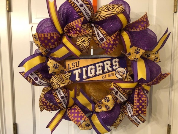 LSU Tigers Wreath