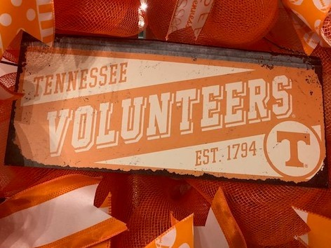 University of Tennesse Vols sign