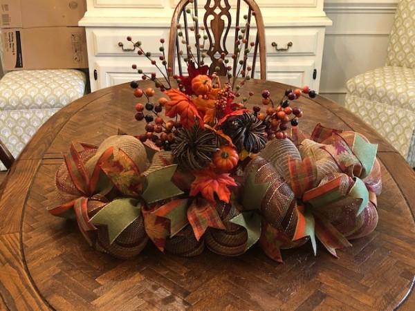 Fall, Thanksgiving, Harvest centerpiece or mantel decoration