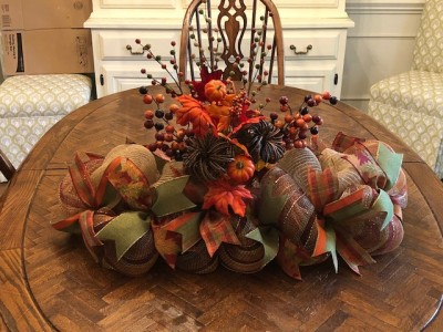 Fall, Thanksgiving, Harvest centerpiece or mantel decoration