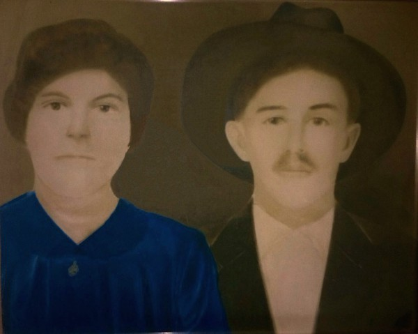 1933 portrait of Aniceto Reyes and Elena Villanueva