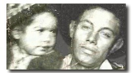 1943 photograph of Isidro Reyes and son Joe David Reyes Sr.