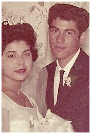 1961 photograph of Joe David Reyes Sr. and Maria Norfelia Perales