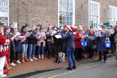 Carol Singing at the Farmers Market