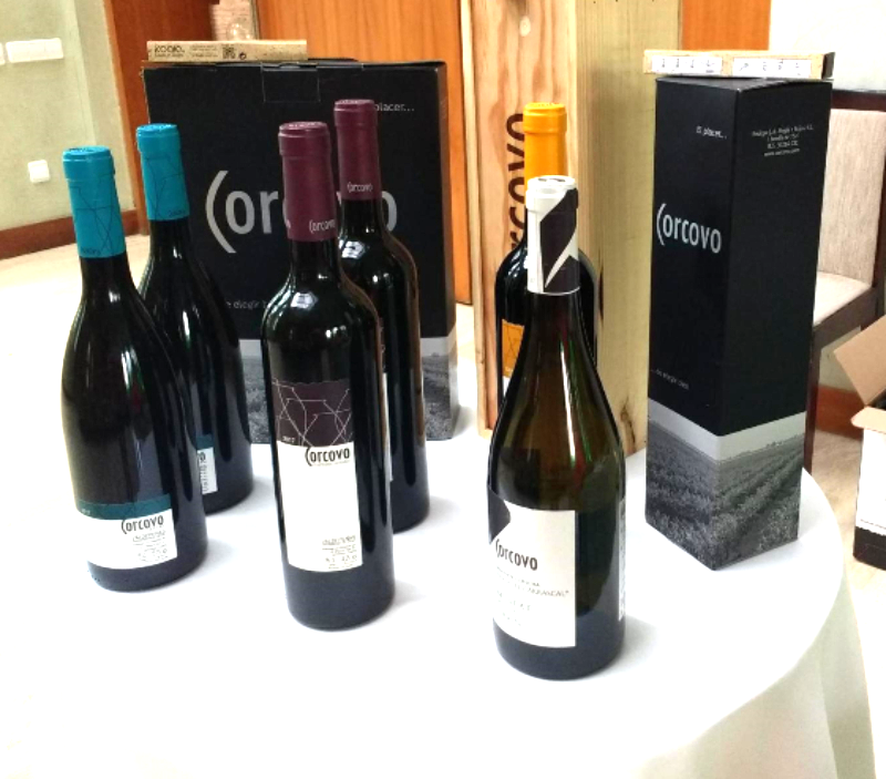 Corcovo wines on display